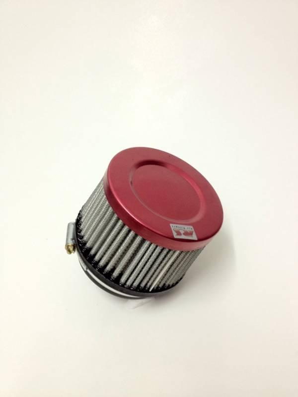 Filtro de ar cilíndrico fluxo simples, pequeno | Prata e Laranja | boca de 2,5