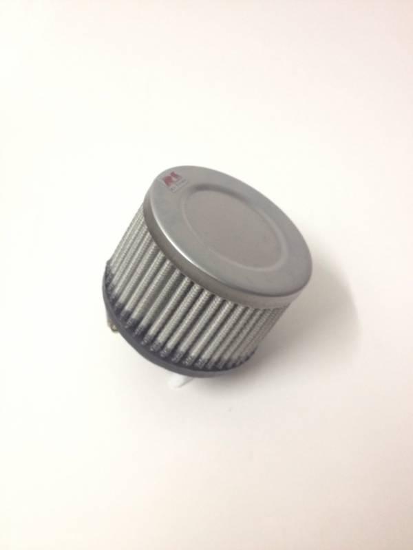 Filtro de ar cilíndrico fluxo simples, pequeno | Prata e Preto | boca de 2