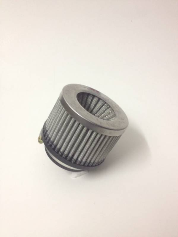 Filtro de ar cilíndrico duplo fluxo, pequeno | Prata e Preto | boca de 2