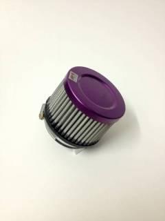 Filtro de ar cilíndrico, fluxo simples, pequeno | Roxo e Preto | boca de 2,5