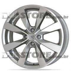 Jogo de Rodas VW Gol G6 Scorro S-221 15x6 4x100 | Diamantada Com Fundo Claro