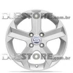 Jogo de Rodas Scorro S-209 15x6 4x100 | Cinza Claro