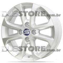 Jogo de Rodas Gol G5 Scorro S-205 14x5,5 4x100 | Cinza Claro