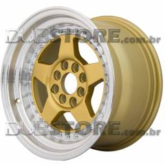 Jogo de Rodas JNC 275 15x8 4x100/108 | Dourada