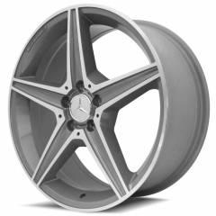 Jogo de Rodas Mercedes-Benz C250 AMG RAW 19x8 5x112 | Diamantada com fundo grafite