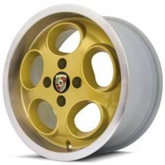 Jogo de Rodas Oxy Lemans M6 15x7 4x100 | Dourada