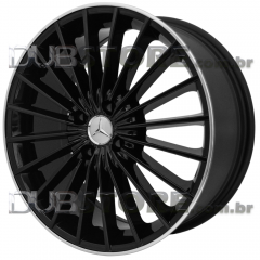 Jogo de Rodas Win Wheels Mercedes 17x7 4x100 | Preto brilhante