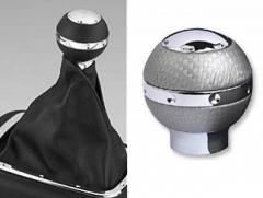 Manopla de Cambio Isotta 429 IG - Lesmo Fibra cinza c/ cromado