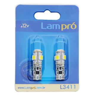 Kit Pingo LED Lampró Super Branco c/ Canceler | W5W | DUB Store