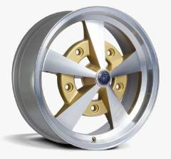 Jogo de Rodas Escarabajo 17x6 5x205 | Diamantado Gold