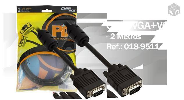 Cabo VGA SVGA RGB C/Filtro Bilindado 2mt - PIX