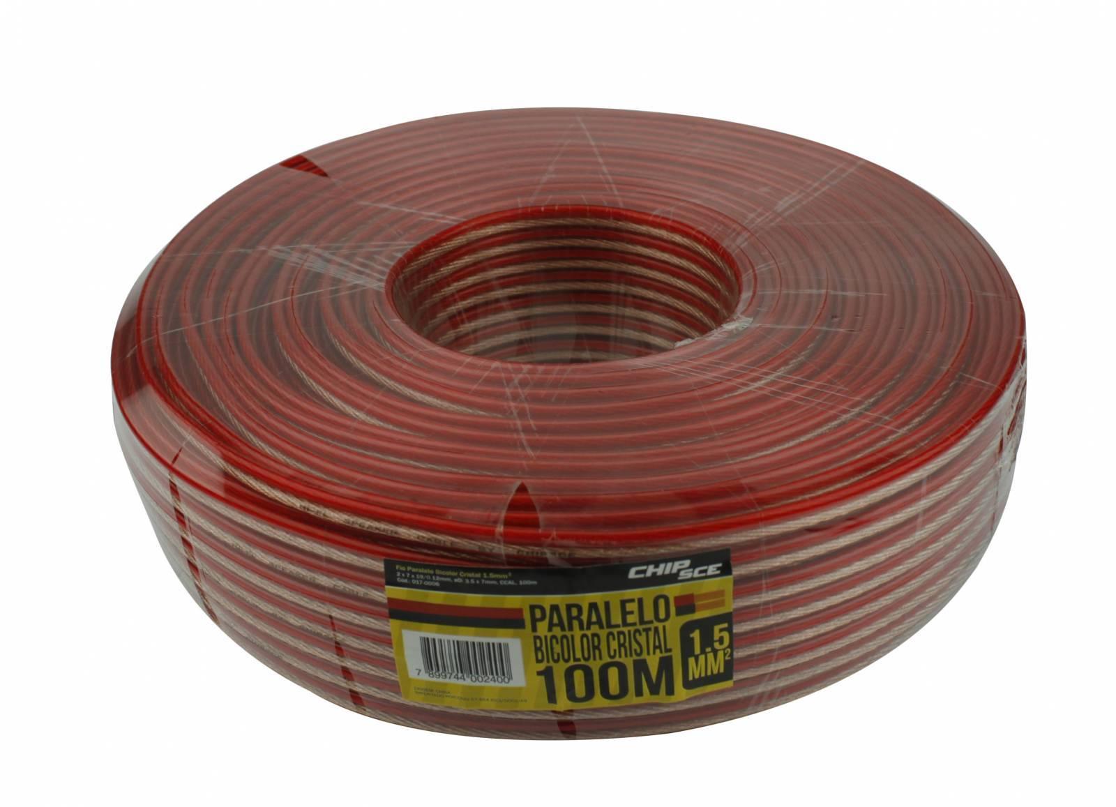 Fio Paralelo bicolor Cristal 2x1,50mm C/ 100mt - CHIP SCE