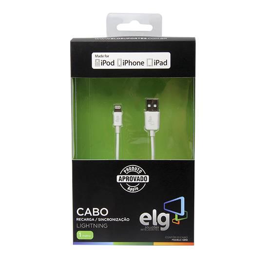 Cabo USB 2.0 1 metro p/ IPHONE 5/6 C810 - ELG