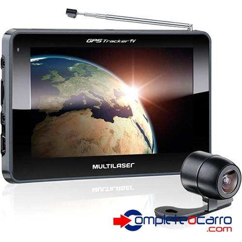 Navegador GPS Multilaser 4.3' c/ TV  e Câmera de ré GP035