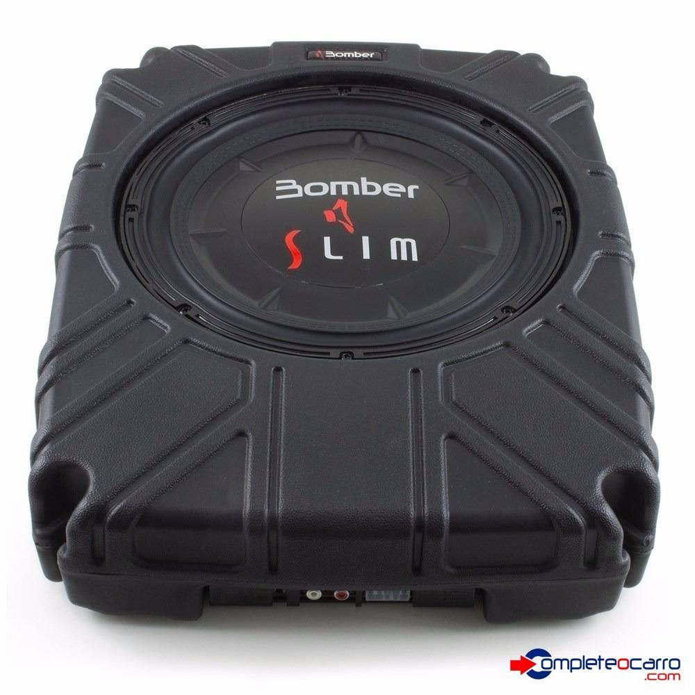 Subwoofer - Caixa Selada Slim 10' Bomber - 200W RMS