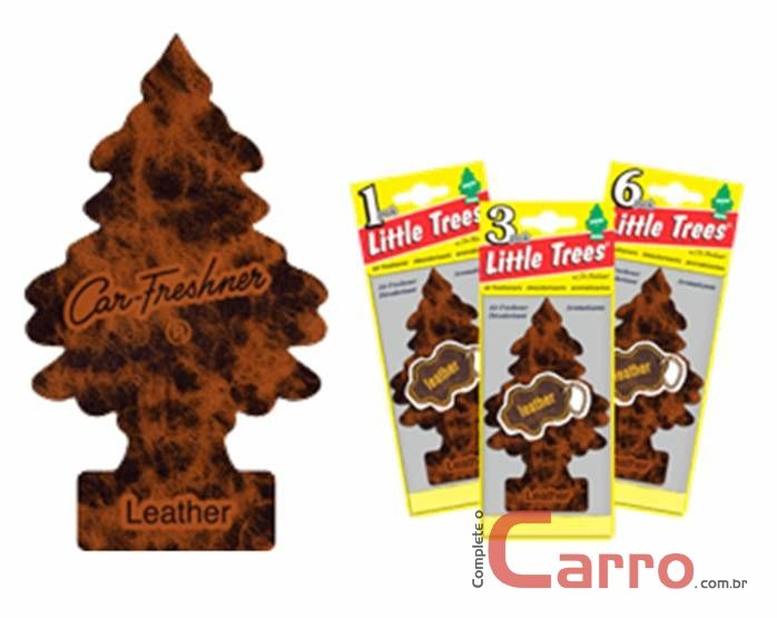 Aromatizante Little Trees - Couro - Car Freshner