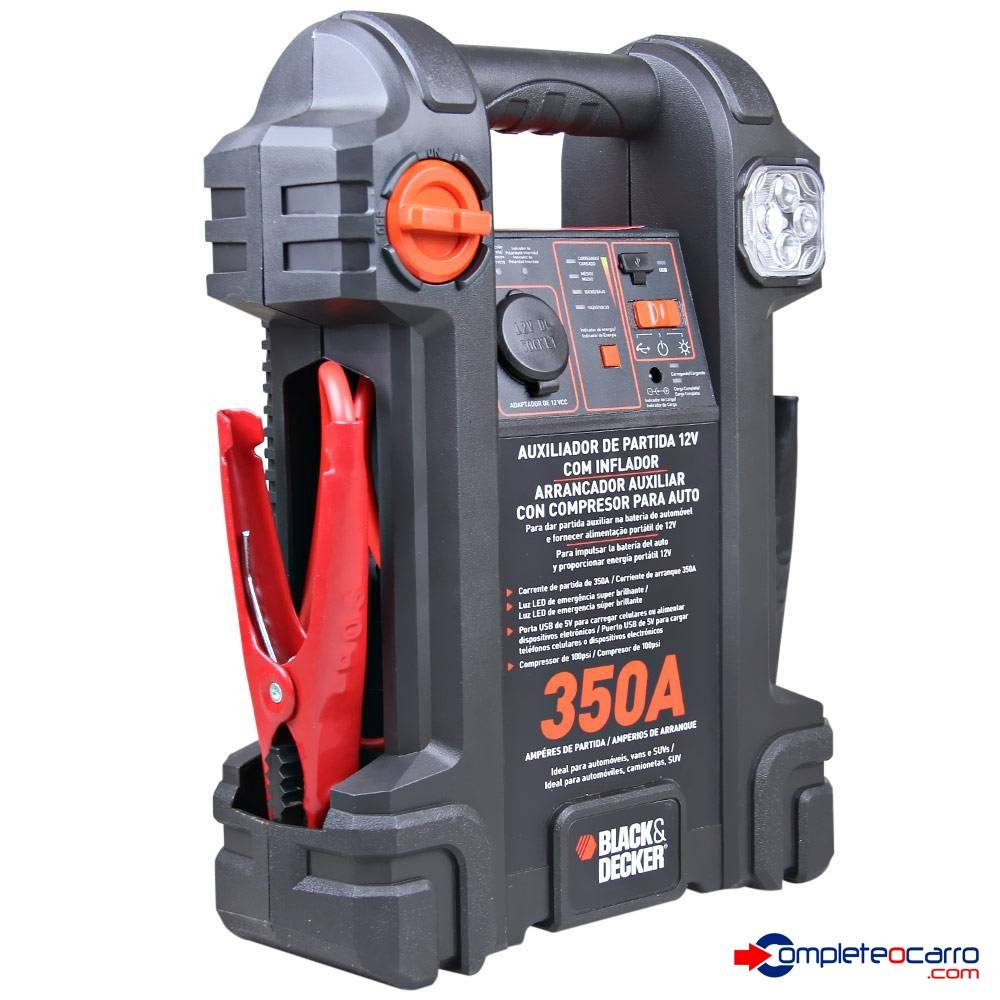 Auxiliar de Partida e Compressor Black e Decker- 350A JS350C
