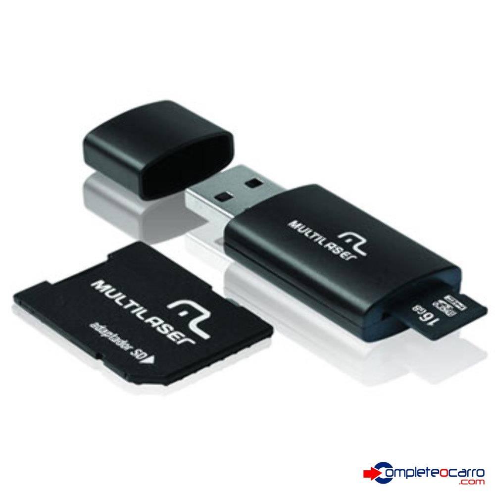 Pendrive Multilaser 3 Em 1 Micro Sd 16 Gb Adaptador MC112