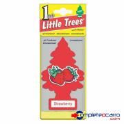 Aromatizante Little Trees - morango - Car Freshner