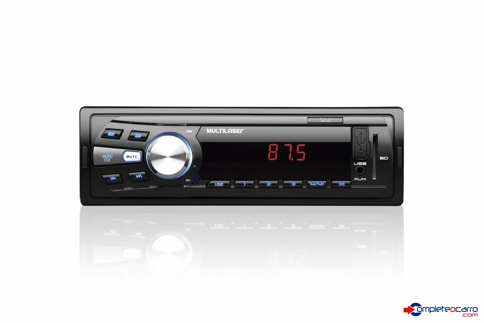 Rádio Automotivo Multilaser P3294, Fm, Usb, Aux, Sd