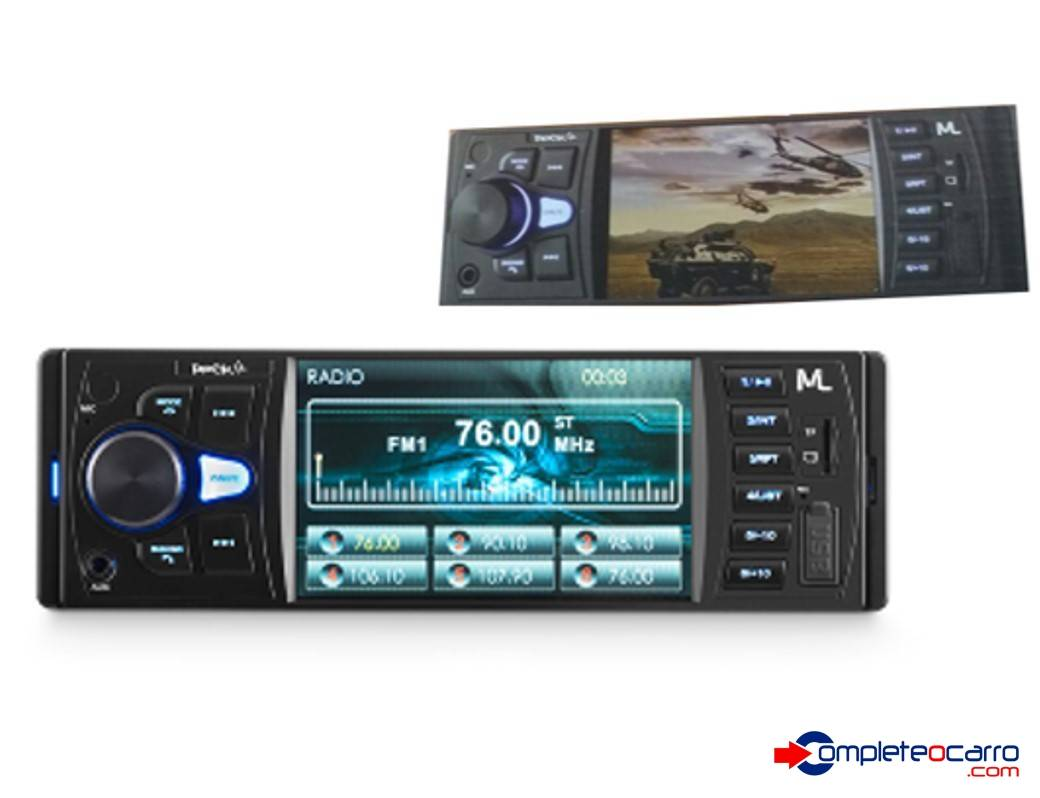 Som Automotivo MP5 Multilaser Rock 4 - P3325 - Bluetooth