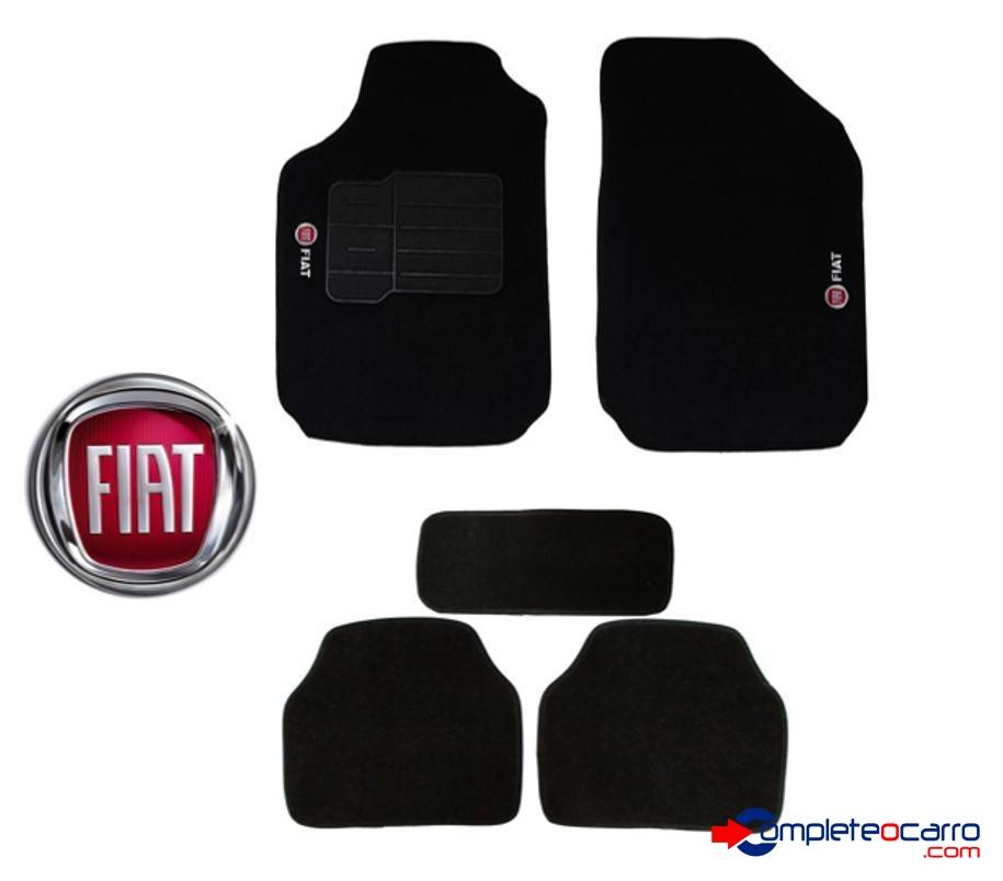 Tapete Ecológico Personalizado Universal Fiat   Preto C0010