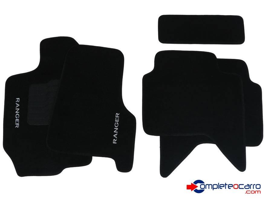 Tapete Ecológico Personalizado Ford Ranger CD 98/12 - Preto