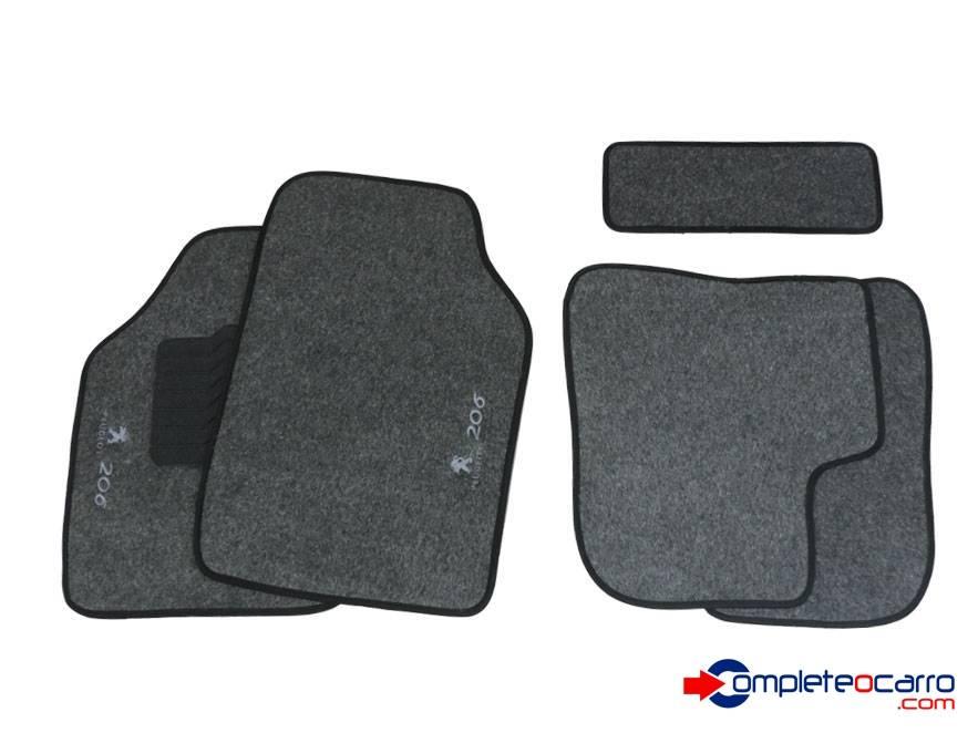 Tapete Ecológico Personalizado Peugeot 206 99/09 - Grafite C