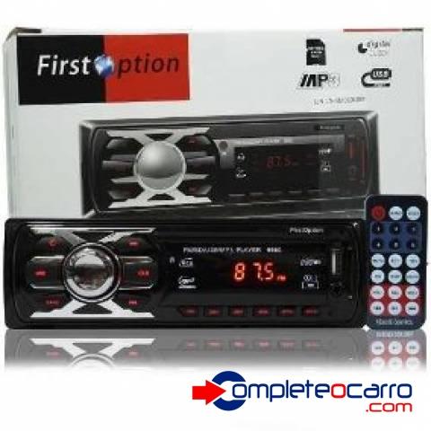 Rádio Som Automotivo MP3, FM, USB, Cartão SD, Controle Remot