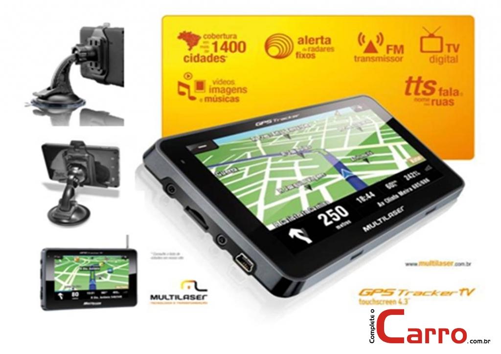 GPS Multilaser GP012 4,3 Polegadas C/ TV Digital -  Fala Nom