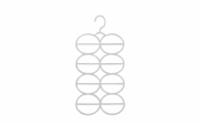 Cabide acrílico para cachecol/echarpes/lenços | Show Room das Lojas