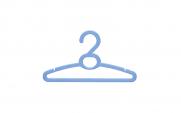 Cabide plástico para roupas de bebê (caixa com 12 unidades) | Show Room das Lojas