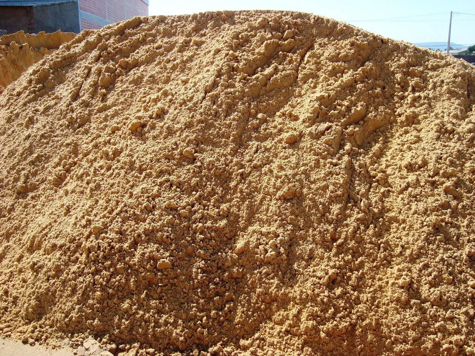 Areia média para concreto - carga