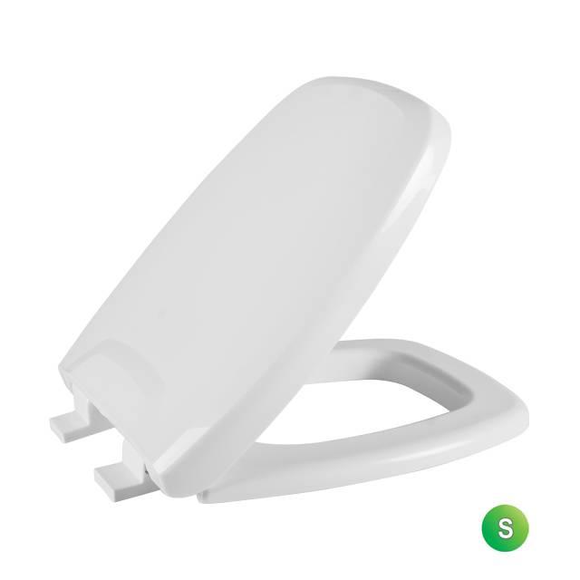 Assento Sanitário Astra StylusPrimola almofadado Cinza-03