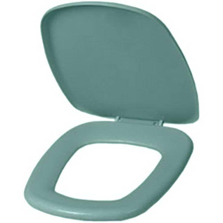 Assento Sanitário Astra Thema Almofadado Verde Água