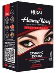 NIRAJ HENNA PARA SOBRANCELHAS CASTANHO ESCURO 3,5gr