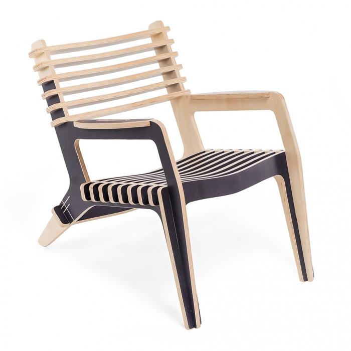 Poltrona Chillin Gray Flanne | FITTO Madeira, Design e Arte