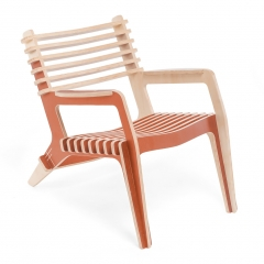 Poltrona Chillin ColorBlock - Terracota
