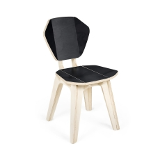 Cadeira Pétala ColorBlock - Black