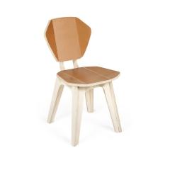 Cadeira Pétala ColorBlock - Caramelo