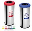 Lixeira Seletiva Inox 14 Litros c/ Aro Plástico Decorline (Unidade)