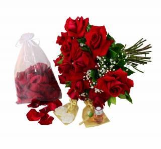 Kit Romance Ardente | Florisbella Floricultura