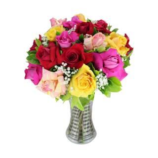 Colorido de Rosas. | Florisbella Floricultura
