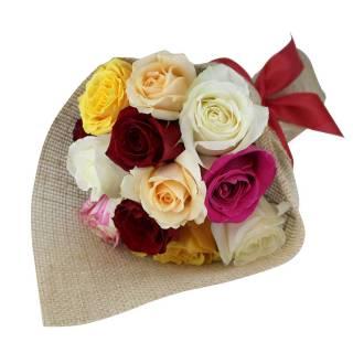 Buquê de Rosas Coloridas | Florisbella Floricultura