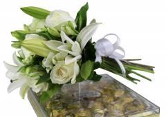 Buquê  Mix Flores com Ferrero