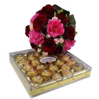 Cravos Eu Te Amo com Ferrero | Florisbella Floricultura