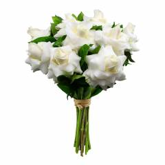 Buquê de Rosas Colombianas Brancas