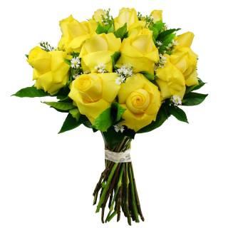 Buquê de Rosas Colombianas Amarelas | Florisbella Floricultura