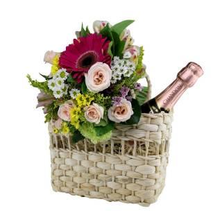 Mix de Flores e Chandon | Florisbella Floricultura