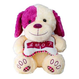 Cachorro Amor Rosa | Florisbella Floricultura